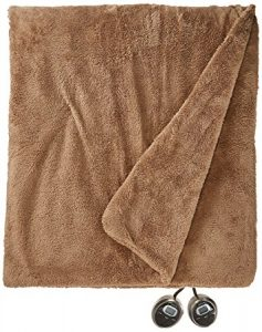 Sunbeam SlumberRest LoftTech Heated Blanket With ComfortSet Controller, Full, Mushroom