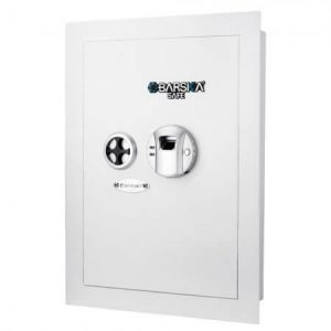 Barska Biometric Wall Safe, White
