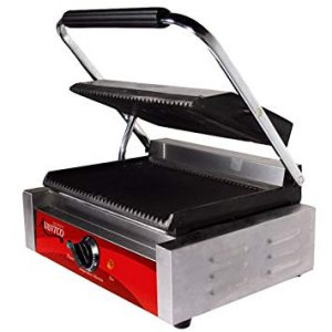 Avantco P78 Grooved Commercial Panini Sandwich Grill