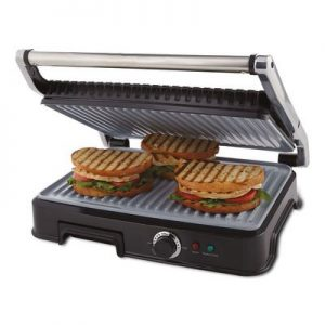 Oster CKSTPM6001-ECO Extra Large DuraCeramic Panini Maker and Indoor Grill