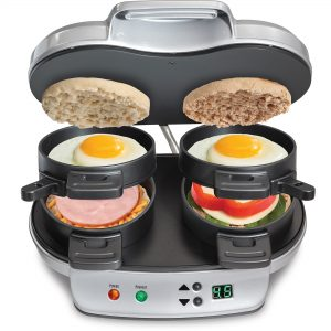 The Hamilton Beach 25490 Dual Breakfast Sandwich Maker