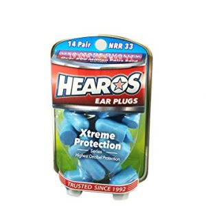 HEAROS Xtreme Protection Noise Canceling Reusable Foam Earplugs