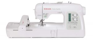 SINGER 4-in-1 Futura Quartet Portable Sewing, Embroidery, Quilting, and Serging Machine