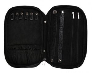 WODISON Zipper Carry-on Travel Jewelry Case