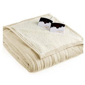 Biddeford 2063-9052140-702 MicroPlush Sherpa Electric Heated Blanket Queen Cream