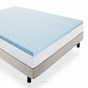 LUCID Gel Infused Ventilated Memory Foam Mattress Topper