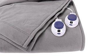 Soft Heat Luxury Micro-Fleece Low-Voltage Electric Heated Blanket, Full, Grey by SoftHeat