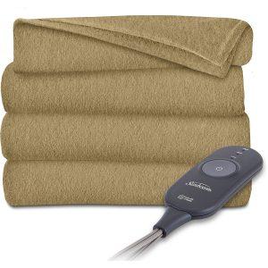 Sunbeam Heated Electric Throw Blanket Fleece Extra Soft, Acorn