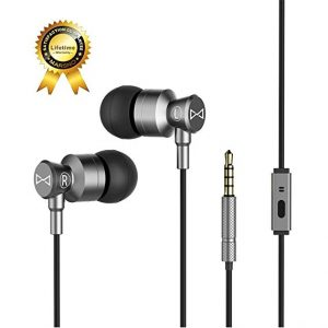 Marsno Wired Metal In Ear Headphones