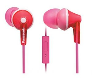 Panasonic ErgoFit RP-TCM125-K In-Ear Earbuds- with mic