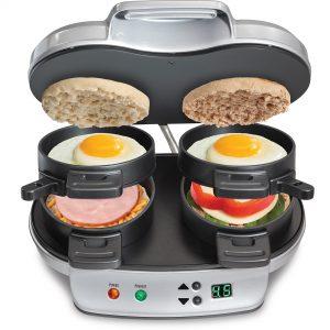 The Hamilton Beach 25490 Dual Breakfast Sandwich Maker