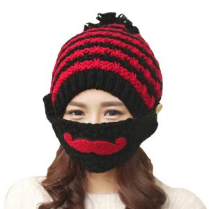 Alexstudio Women's Fashion Warm Winter Knitted Hats Outdoor Mask Cap