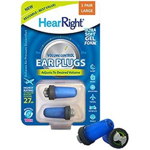 HearRight Volume Control Ear Plugs