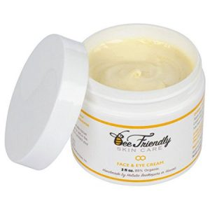 Bee Friendly Face and Eye Cream 100% All Natural 85% Organic Moisturizer