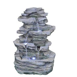 CYA-DECOR Tabletop Stacked Stone Water Fountain