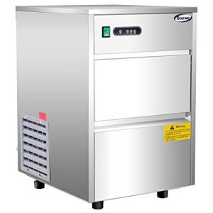 Costway Stainless Steel Commercial Freestanding Ice Machine