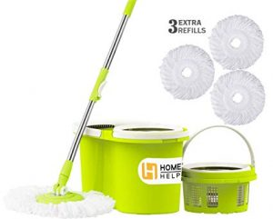 HomeHelper Microfiber Spin Mop