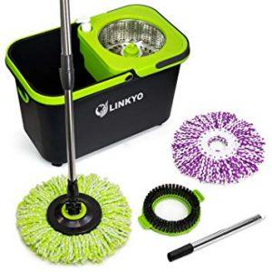 LINKYO Spin Mop Bucket System Microfiber Mop