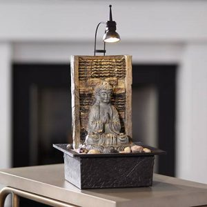 Namaste Buddha High Indoor Table Fountain