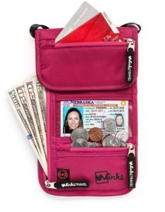 Travel Neck Wallet Waterproof Passport Holder by Winks Travel