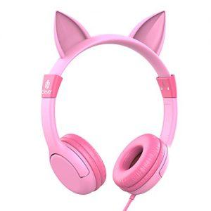 iClever Adjustable Headband Cat Ear Kids Headphones
