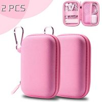 ASMOTIM Pink Earbud Case Headphones Protective Case