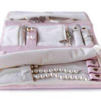 CASE ELEGANCE Vegan Leather Travel Jewelry Case - Jewelry Organizer
