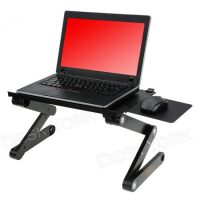 Desk York Vented Portable Table for Computer - Adjustable Light Stand