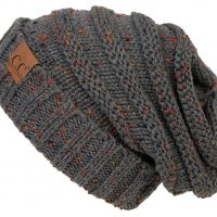 FunkyJunque C.C. Trendy Warm Chunky Soft Oversized Cable Knit Slouchy Beanie