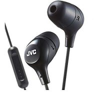 JVC HAFR37B Marshmallow Earbuds with Mic, Black