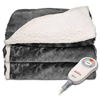 Sunbeam Electric Throw — Reversible Imperial Plush With Sherpa