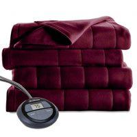 Sunbeam Microplush Heated Blanket, Twin, Garnet, BSM9KTS-R310-16A00