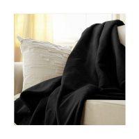 Sunbeam Microplush Heated Throw Blanket, Black (TSM8US-R900-25A45)