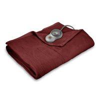 Sunbeam Quilted Fleece Heated Blanket with EasySet Pro Controller, Twin, Garnet