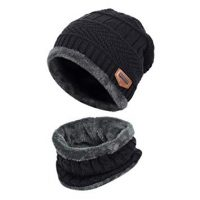 VBIGER 2-Pieces Winter Beanie Hat Scarf Set For Men1