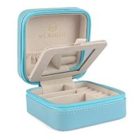 Vlando Small Faux Leather Travel Jewellery Box